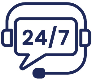 24 7 hotline icon